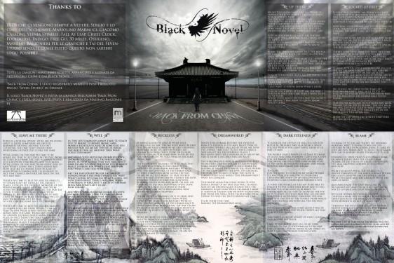 "Black Novel - Booklet ""Back from China"""