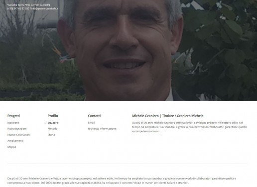 Miche Graniero - Comunicazione in Homepage