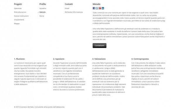 """Miche Graniero - Comunicazione nella pagina del """"Metodo di lavoro"""""""