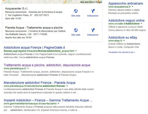 """Pianeta Acqua: Posizionamento sui motori di ricerca per la parola: """"Addolcitori Firenze"""""""