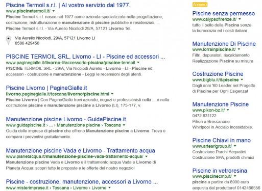 """Pianeta Acqua: Posizionamento sui motori di ricerca per la parola: """"Manutenzione Piscine Livorno"""""""