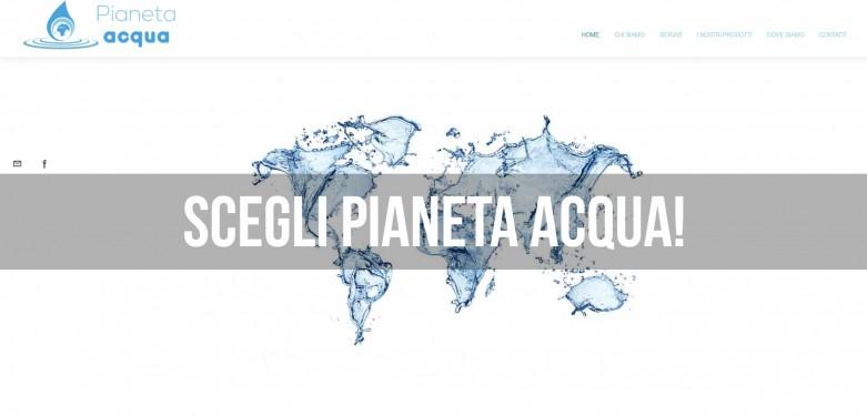 Pianeta Acqua: Schermata inziale del sito