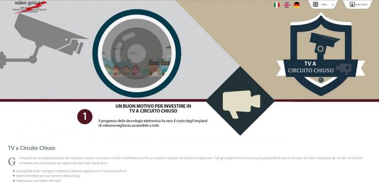 """Valeri Gino - Pagina del servizio """"TV a Circuito Chiuso"""""""